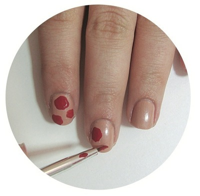 How to paint patterned nail art. Vintage Rose Nails - Step 2