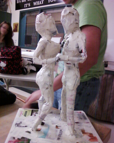 How to mold a clay model. Sculpture - Step 4