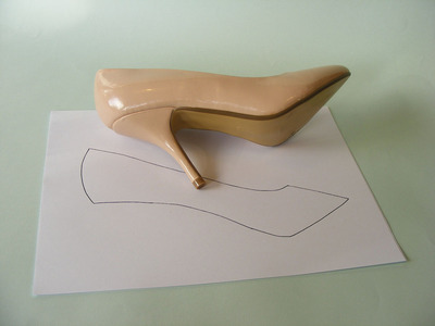 How to make a pair of fabric covered shoes. Fabulous Fabric Covered Shoes - Step 1