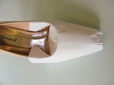 How to make a pair of fabric covered shoes. Fabulous Fabric Covered Shoes - Step 2