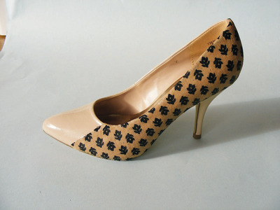 How to make a pair of fabric covered shoes. Fabulous Fabric Covered Shoes - Step 5