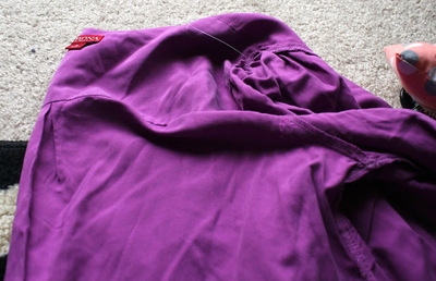 How to make a revamped top. Diy Cross Back Shirt - Step 2