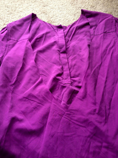 How to make a revamped top. Diy Cross Back Shirt - Step 4