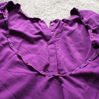 How to make a revamped top. Diy Cross Back Shirt - Step 5
