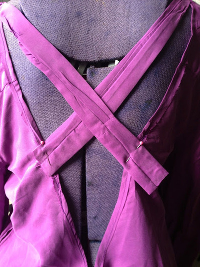 How to make a revamped top. Diy Cross Back Shirt - Step 9