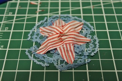 How to make a ribbon brooch. Diy Button Brooch  - Step 9