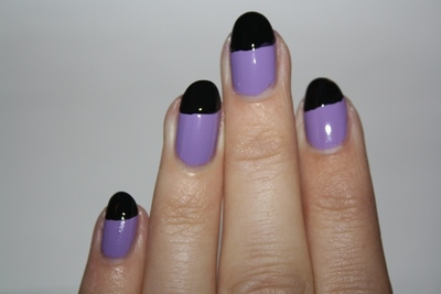 How to paint an animal nail. Crazy Cat Woman Nails - Step 2