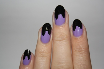 How to paint an animal nail. Crazy Cat Woman Nails - Step 3