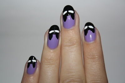 How to paint an animal nail. Crazy Cat Woman Nails - Step 4