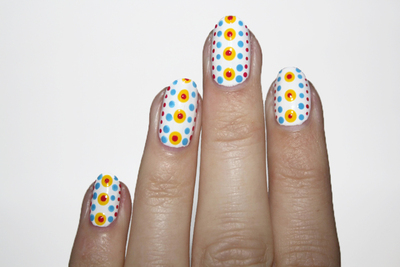 How to paint patterned nail art. Polka Dot Power Nails - Step 4