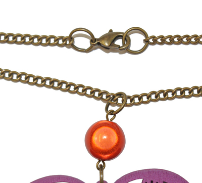 How to make a pendant necklace. Gypsy Chic Necklace And Earrings  - Step 6