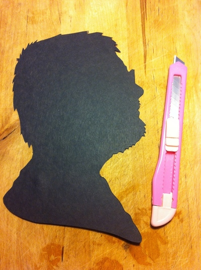 How to make silhouette art. Victorian Silhouettes - Step 9