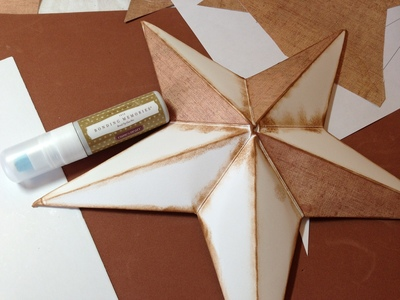 How to fold an origami shape. 3 D Star Home Decor Project - Step 2