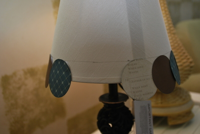 How to make a lamp / lampshade. Altered Lampshade - Step 4