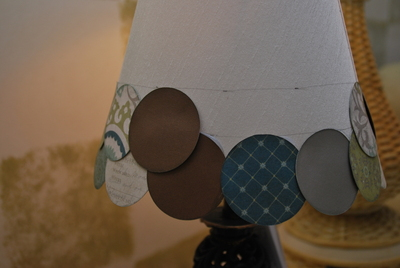 How to make a lamp / lampshade. Altered Lampshade - Step 5