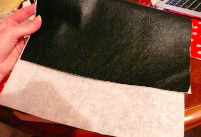 How to make a leather clutch. Anthro Inspired Polka Dot Clutch - Step 1