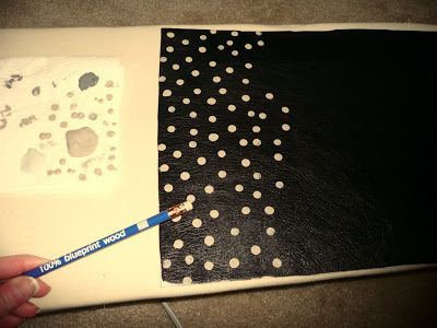 How to make a leather clutch. Anthro Inspired Polka Dot Clutch - Step 2