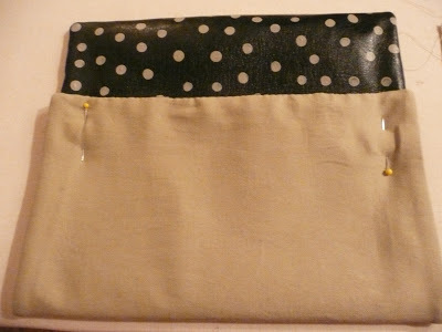 How to make a leather clutch. Anthro Inspired Polka Dot Clutch - Step 6