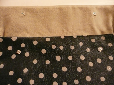 How to make a leather clutch. Anthro Inspired Polka Dot Clutch - Step 8