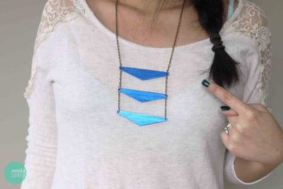 How to make a wooden necklace. Triangle Ladder Necklace  - Step 8