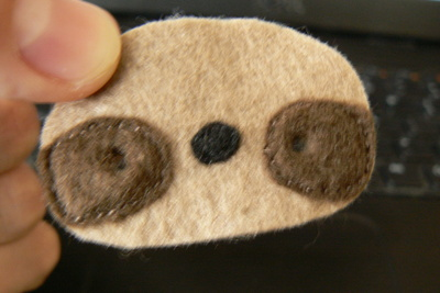 How to make a sloth plushie. Sock Sloth - Step 7