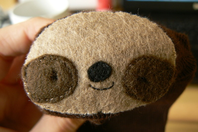 How to make a sloth plushie. Sock Sloth - Step 8