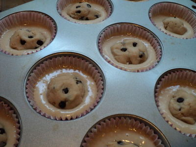 How to bake a cookie cupcake. Chocolate Chip Cookie Dough Cupcakes - Step 2
