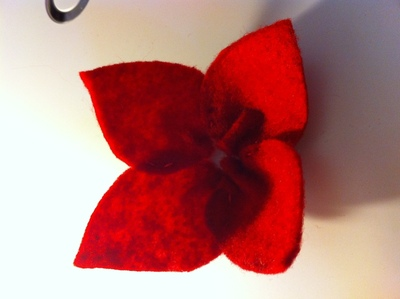How to make a fabric ring. Felt Flower Ring - Step 3