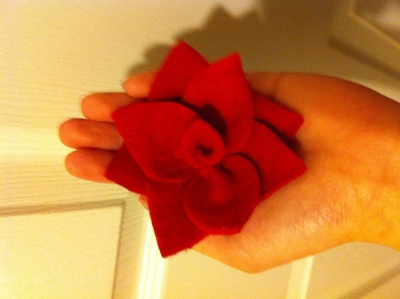 How to make a fabric ring. Felt Flower Ring - Step 5