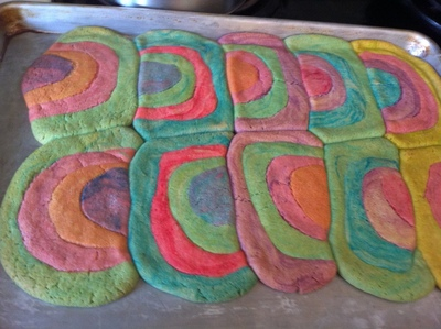 How to make decorative cookies. Easter Rainbow Cookies - Step 10