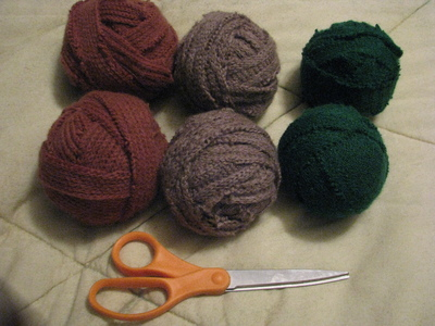 How to make a home accessory. $1 Wool Dryer Balls Using Salvaged Sweaters! - Step 3
