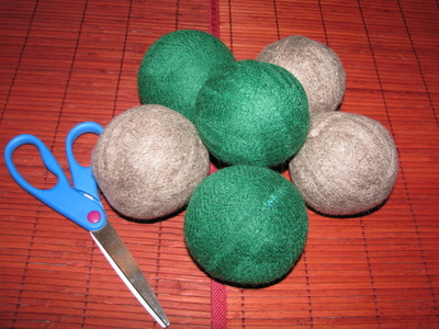 How to make a home accessory. $1 Wool Dryer Balls Using Salvaged Sweaters! - Step 6