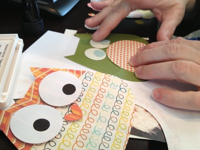 How to make a greetings card. Owl Always Love You Card - Step 4