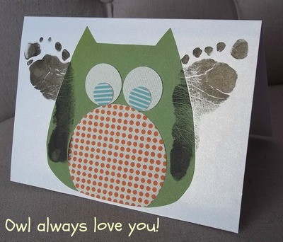 How to make a greetings card. Owl Always Love You Card - Step 7