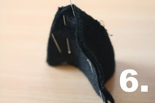 How to make an animal hat. Bowler Hat With Cat Ears! - Step 6