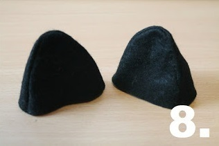 How to make an animal hat. Bowler Hat With Cat Ears! - Step 8