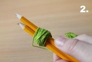 How to make a ribbon charm. Pompom Keyring - Step 2