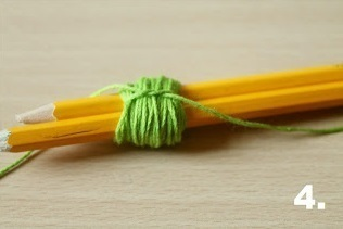 How to make a ribbon charm. Pompom Keyring - Step 4
