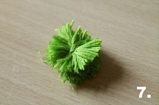 How to make a ribbon charm. Pompom Keyring - Step 7