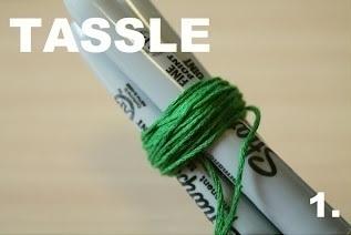 How to make a ribbon charm. Pompom Keyring - Step 9
