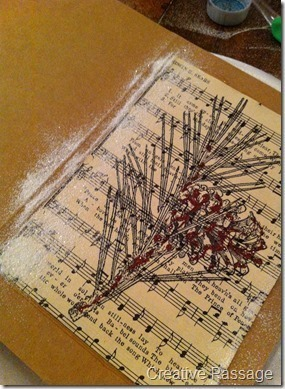 How to make a recycled card. Sheet Music Christmas Cards - Step 9