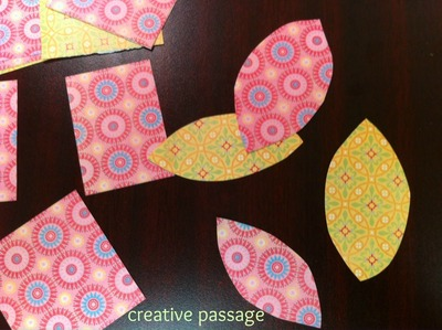 How to create a drawing or painting. Paper Scraps Flower Wall Art - Step 6