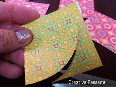 How to create a drawing or painting. Paper Scraps Flower Wall Art - Step 4