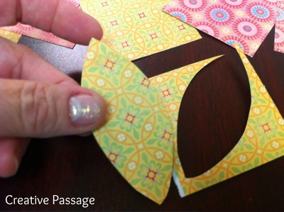 How to create a drawing or painting. Paper Scraps Flower Wall Art - Step 5