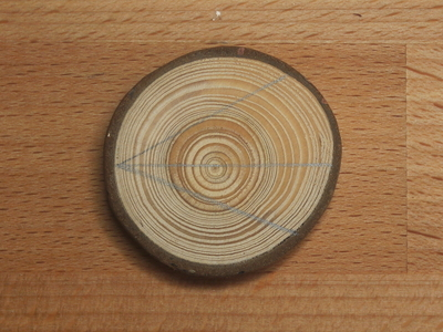 How to make a wooden brooch. Geometric Brooch - Step 1