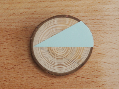 How to make a wooden brooch. Geometric Brooch - Step 4