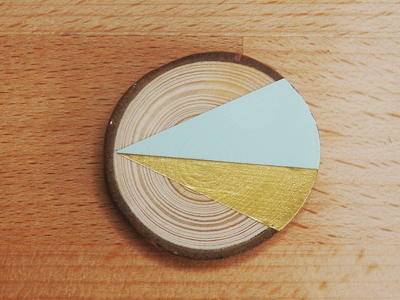 How to make a wooden brooch. Geometric Brooch - Step 6