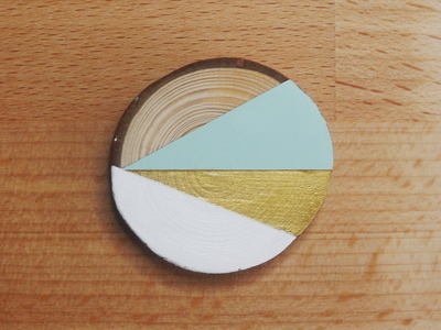 How to make a wooden brooch. Geometric Brooch - Step 7