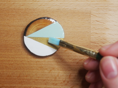 How to make a wooden brooch. Geometric Brooch - Step 8