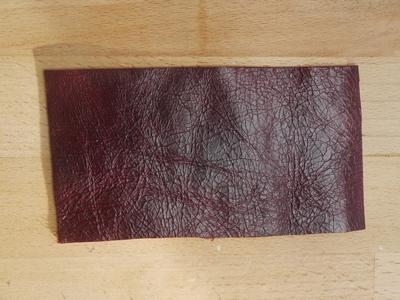 How to make a tassel charm. Leather Tassel Handbag Charm - Step 1
